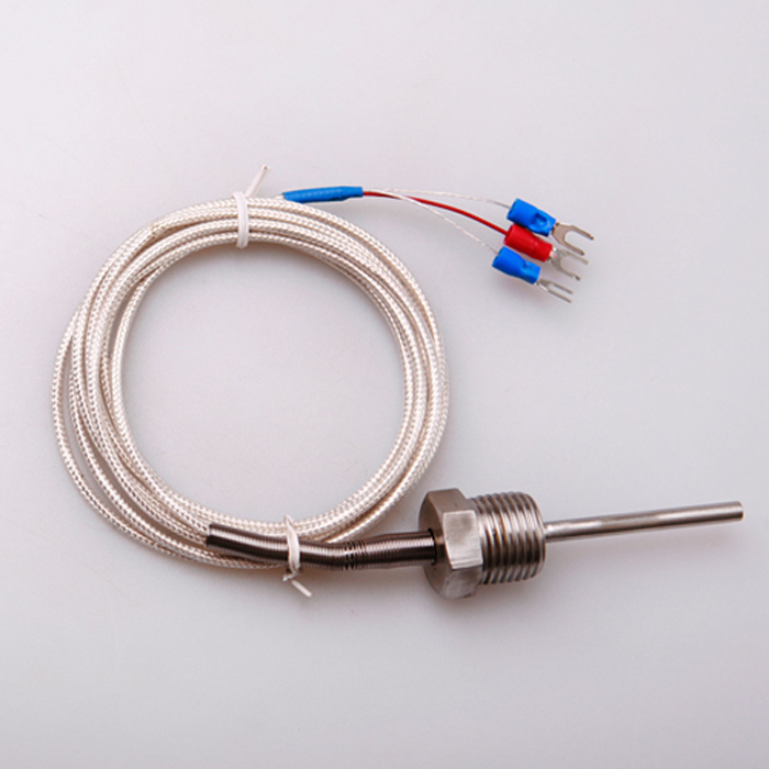 RTD Pt100 PT100 ohm Sensor Temperature Control Thermocouple Probe L 50mm PT NPT 1/2'' Thread with Insulation Lead Wire(China (Mainland))