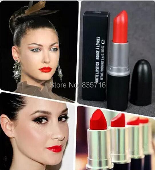 1pcs hot sell famous brand matte lipsticks mc LADY DANGER lipstick professional makeup waterproof lip stick cosmetic Kh01-6(China (Mainland))