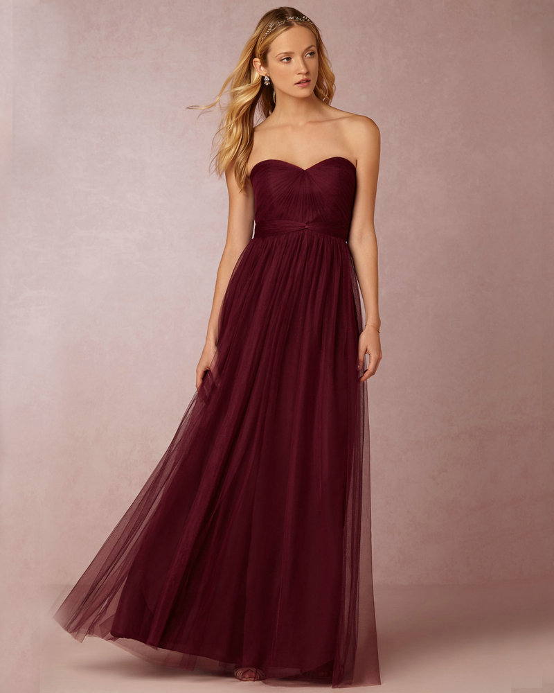 popular wine colored bridesmaids dresses buy cheap wine