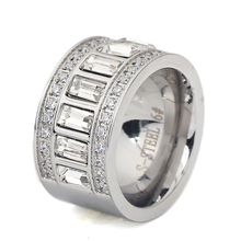 Buy Women Men's Ring Stainless Steel Wedding Ring Cubic Zirconia Party Jewelry USA Size for $5.93 in AliExpress store