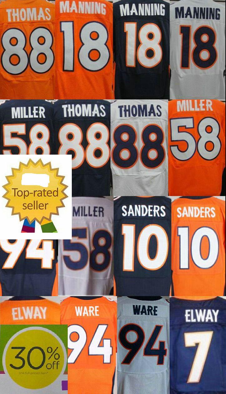 Гаджет  30% discount #18 Peyton Manning jersey #88 Demaryius Thomas jersey authentic Von Miller cheap elite stitched embroidery jersey None Спорт и развлечения