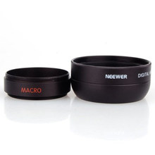 Neewer 37MM 0.45X Wide Angle Lens + Macro + Lens Bag for  Canon and Any Camera with a 37MM Filter Thread Free Shipping(China (Mainland))