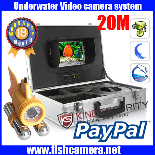 Здесь можно купить  Portable 20m Underwater Video color Camera with 24pcs LED light with Monitor Portable 20m Underwater Video color Camera with 24pcs LED light with Monitor Безопасность и защита