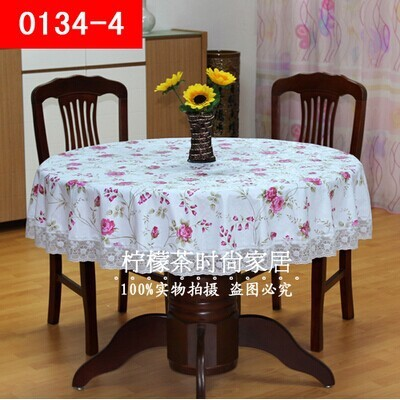 Thick plastic round tablecloth variety roundtable large round circular table cloth tablecloth PVC waterproof oil disposable(China (Mainland))
