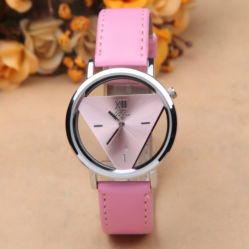 Triangle Dial Women Watches Fashion Lady Quartz Wristwatches Female Relogio Feminino Waterproof Free Shipping