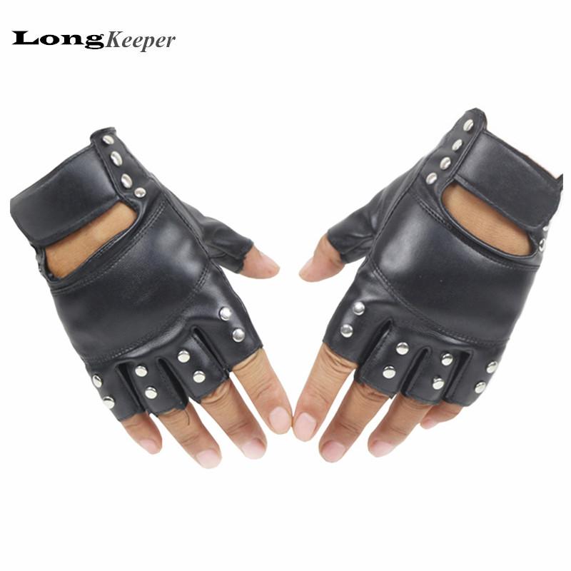 longkeeper women men leather gloves fingerless gloves for