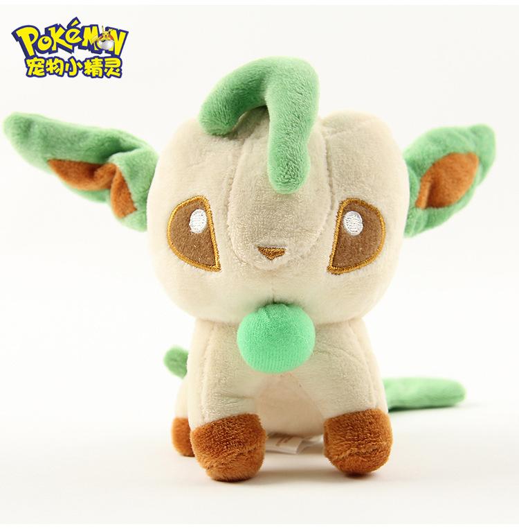 1pcs Pokemon Leafia Leafeon Folipurba Eterna Forest Eevee Phyllali 12cm Q Edition Plush Toys Movie Soft Stuffed Animals Gifts(China (Mainland))