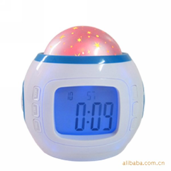 80PCS/LOT Newest Music and starry sky calendar Projection Clock Digital Clocks,LED clock.(China (Mainland))