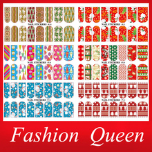 Water Nail Stickers,5sheets/lot Full Cover Transferable Nail Wraps Decals,  Christmas Designed DIY Beauty Nail Decoration Tools(China (Mainland))