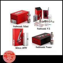 Original Kanger Kbox 40W Box Mod Vaporizer or Subtank Mini Subtank Nano Subtank Plus V2 Electronic Cigarette  Atomizer (1pc YY)