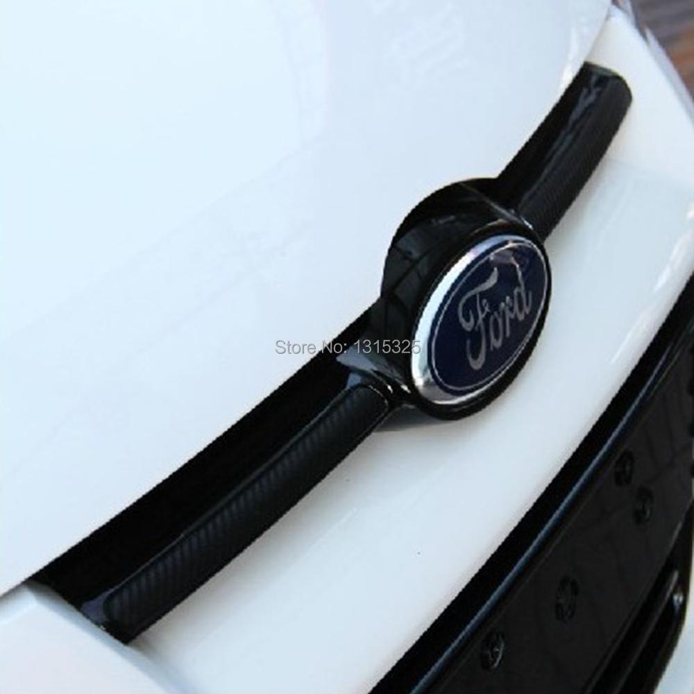 Car carbon sticker design - 2 X Newest Style Carbon Fiber Vinyl Sticker Car Head Sticker Special Designed For Ford Focus