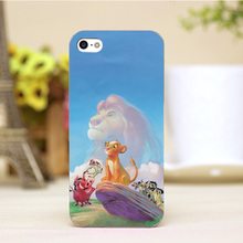PZ0004-40-8 For The Lion King Design Customized cellphone transparent cover cases for iphone 4 5 5c 5s 6 6plus Hard Shell