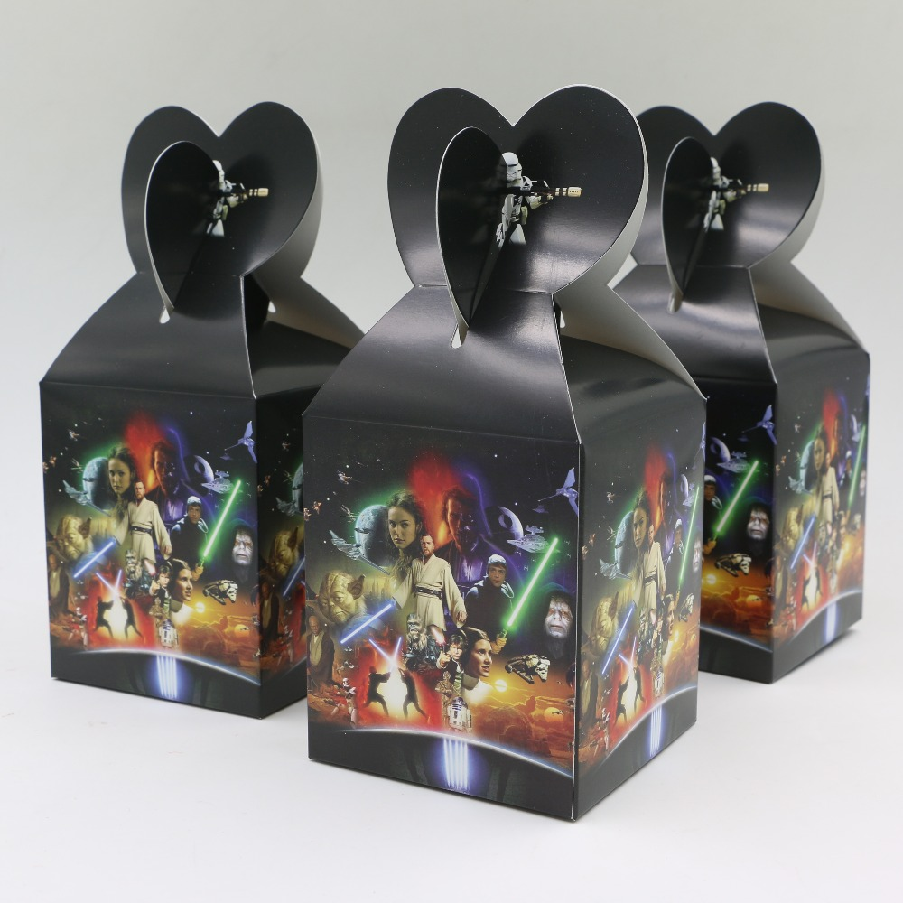 10pc/lot Movie Star Wars Supplies Paper Bag Baby Shower Souvenirs Gift Box Favor Candy Box