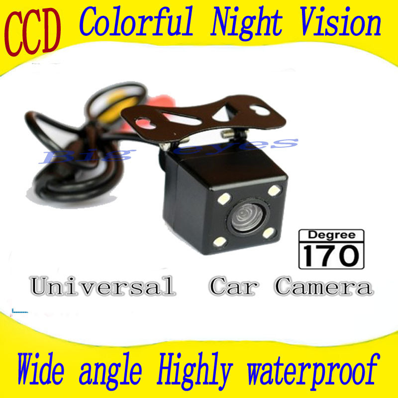 Rear view camera CCD Night color car reversing video system for universal camera /rear carmera Angle adjustable(China (Mainland))