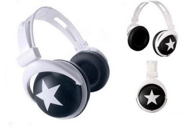 Fasion Mix Style Star headphone earphone headset 3.5mm for phones mp3 mp4 pc laptop free shipping(China (Mainland))