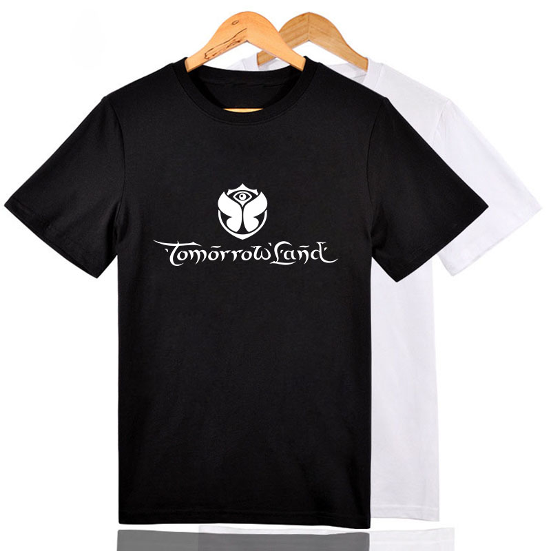 High Great Solid Men Electronic Tomorrowland Great T Shirts Man Cotton Plus Size fitted Tshirts Camisetas Fashion Solid T-shirts(China (Mainland))