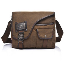 High Quality Canvas Metal Men Business Briefcase Laptop Tablet PC Tactical Military Messenger Shoulder Cross Body Bag(China (Mainland))