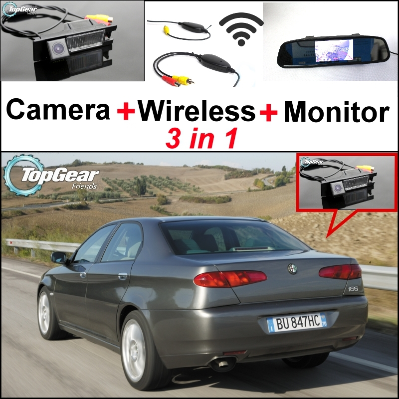 3in1 Special WiFi Camera + Wireless Receiver + Mirror Monitor EASY DIY Backup Parking System For Alfa Romeo AR 166(China (Mainland))