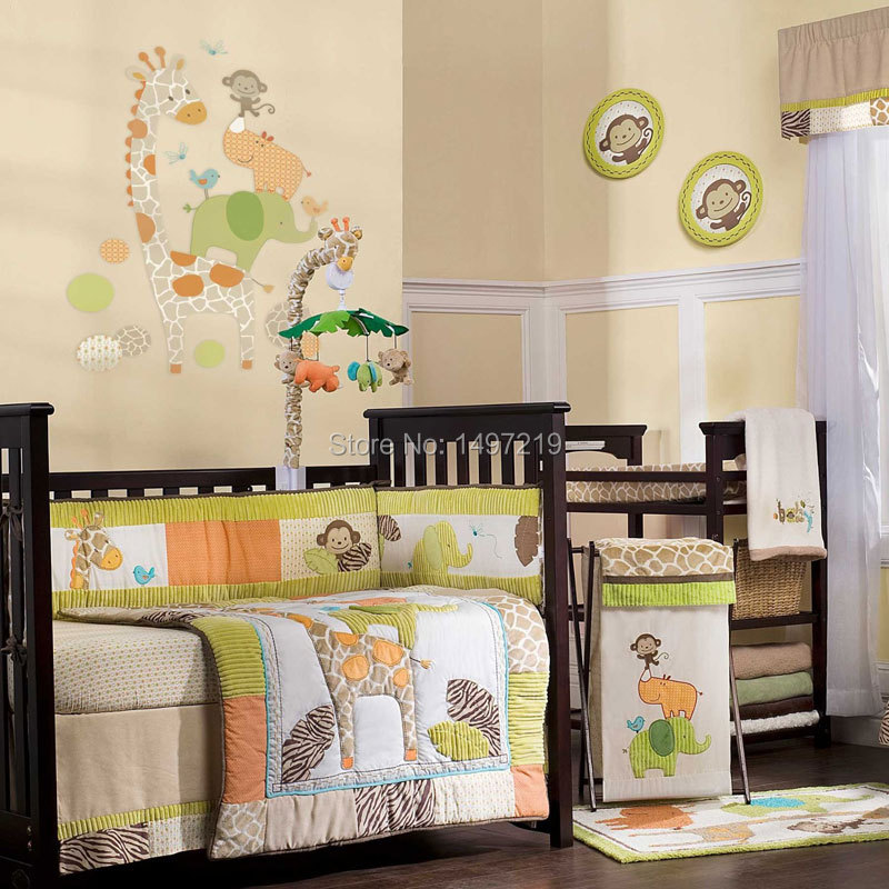PH027 child cot mattress linen bumper set  (1)