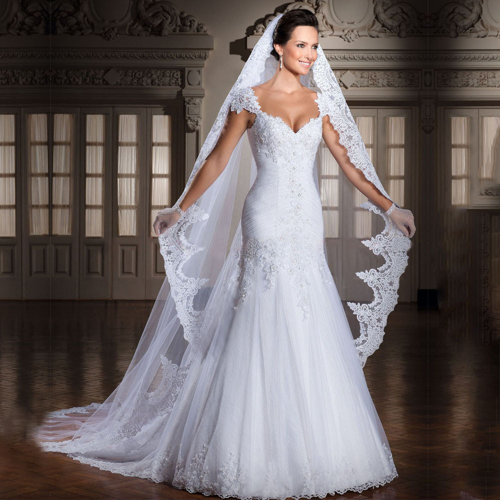 New arrival real photo sweetheart white bride gowns for Aliexpress mermaid wedding dresses
