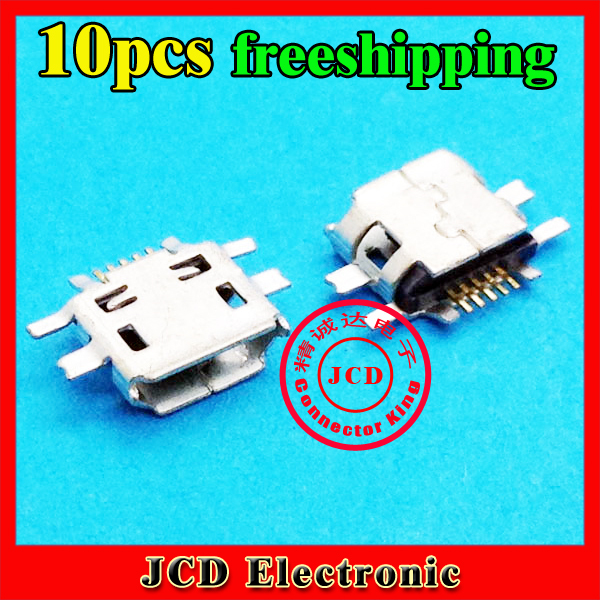 10pcs/lot 5pin Mobile Phone Micro USB Jack USB Connector for Nokia N97 E52 E55 N8 /BBK/VIVO V1 Y1 s3 E1 E3 S12(China (Mainland))