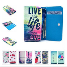 Painting Leather Protect Phone Cases Intex aqua V5 Card Wallet Slot Back Cover - LEATHER WORD store