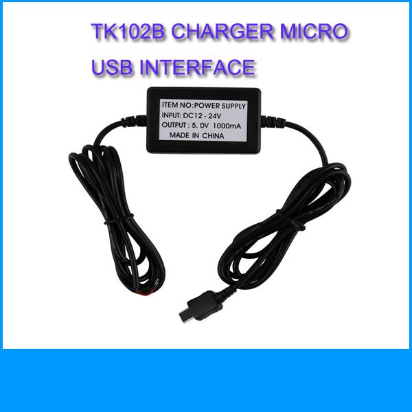 2014 GPS Tracker TK102B Accessories Hard Wired Car Charger Hard-wired Battery Charger for GPS Tracker TK102 Micro usb interface(China (Mainland))