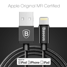 Buy Baseus 1M/1.8M Metal MFI Certified USB Charging Cable Lightning iPhone 5 6 6S 7 7Plus iPad iPod 2.4A Fast Data Charger Cable for $7.99 in AliExpress store