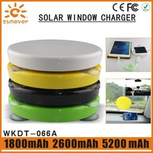 5200mah Built-in Li-polymer battery portable solar mobile phone charger/solar cell phone charger/solar power bank