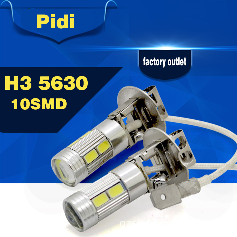 1pcs H3 Led Car Light Fog Led High Power Lamp 5630 Smd Auto Car Led Bulbs Car Light Source Parking 12V 6000K Headlight Lamp(China (Mainland))