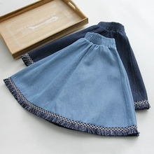 Buy 2017 Preppy Style Tassel Denim Skirt High Waist Women Summer Loose Skirts Fashion Vintage Autumn Slim Mini Skirt Short Skirts for $25.89 in AliExpress store