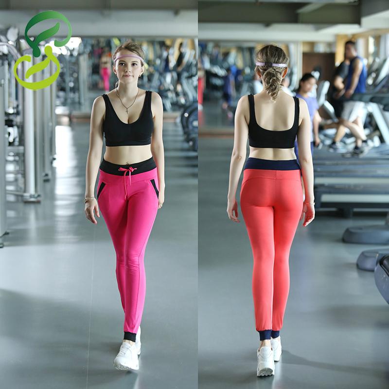 New Fashion Yoga Pants Modal Solid Top Elastic Leggings Full Length Sports Pants For Women 7 Colors<br><br>Aliexpress