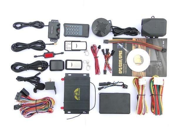 Tk107 автомобиль автомобильный GPS трекер GPS107C 2 пульт дистанционного управления автоматического набора номера + встряхнуть датчик + сирена, поддержка температура обнаружения, измерение топлива