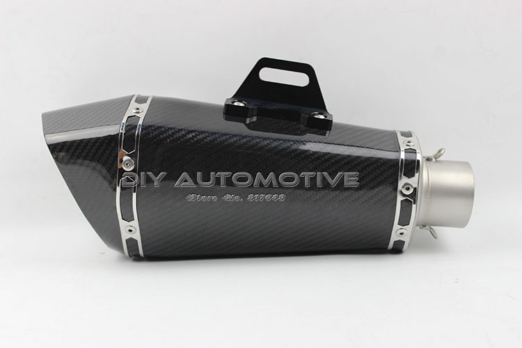 Motorcycle exhaust pipe 1300CC genuine carbon fiber back pressure akrapovic exhaust with db killer(China (Mainland))