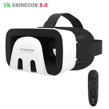 VR Shinecon 3.0 Octopus Style 3D Mobile VR Virtual Reality Glasses Head Mount Helmet ABS Shell Headset for 4.5-6' Mobile Phone(China (Mainland))