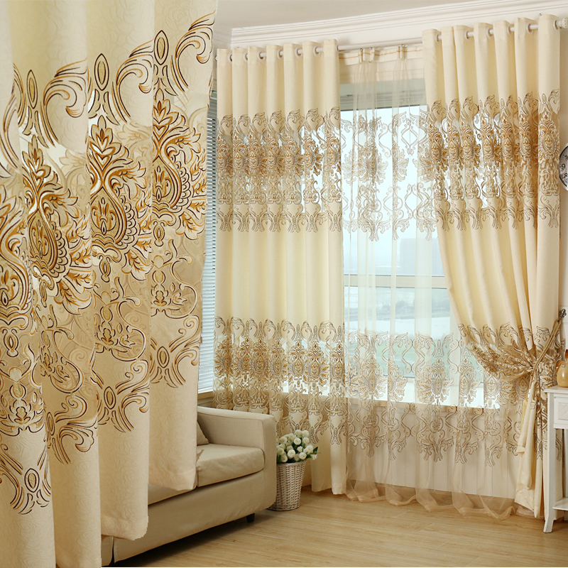 Blackout curtains european and american style drapes for European style windows