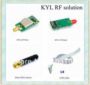 Беспроводной данных модуля 200 м расстояние узкополосный приемопередатчик FSK модуляции TTL/RS232/RS485 Интерфейс rf приемник KYL-210