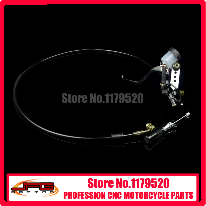 Modify Left Hydraulic Clutch System With Black Master Cylinder Pump And 1200mm Hose Pipe Super Moto Motorcycle Motorcross(China (Mainland))