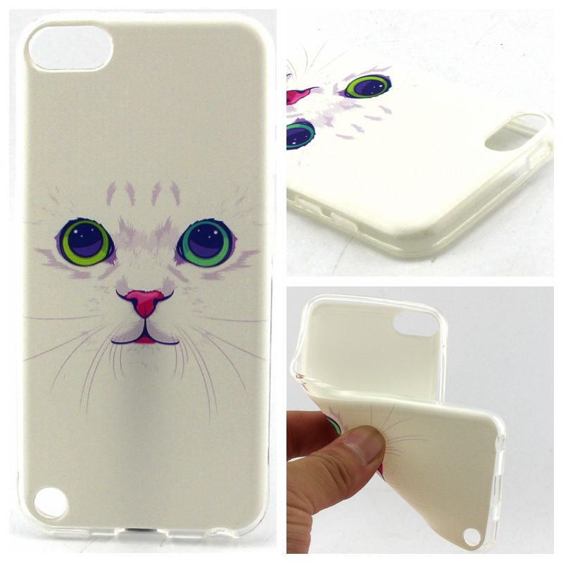 Hot Marketing 10 Design luxury Fashion Ultra Thin Slim Soft TPU Silicone Gel Painted Cover Case For Apple iPod Touch 5 bag(China (Mainland))