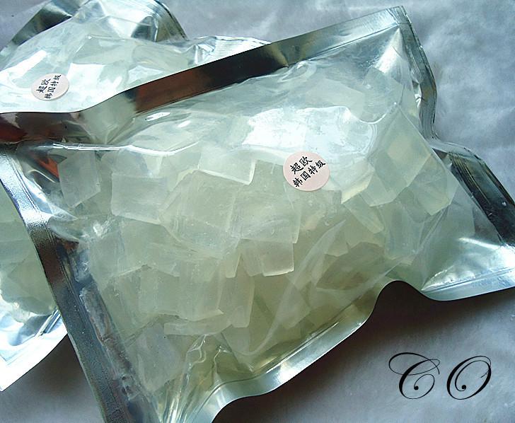 شفافة الصابون الطبيعي قاعدة المواد الخام لديي الصابون اليدوية استخدام 1bag=500g لصناعة الصابون(China (Mainland))