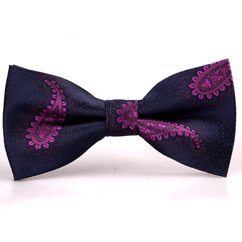 2016 Hot Sale Paisley Pattern Suit Bow Tie Polyester Silk Women Party Bowtie Business Ties for Men Good Gift Corbata Papillon(China (Mainland))