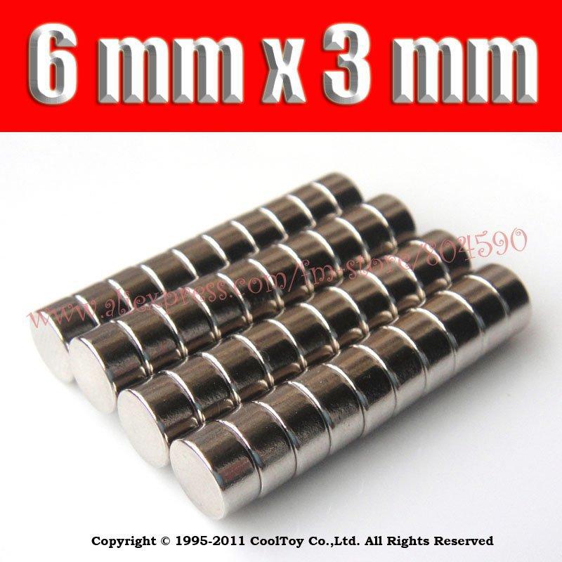 Гаджет  40PCS/LOT  Craft Model Super Powerful Strong Rare Earth Disc NdFeB Magnet Neo Neodymium N35 Magnets 6 x 3 m D6X3MM D6*3MM None Строительство и Недвижимость