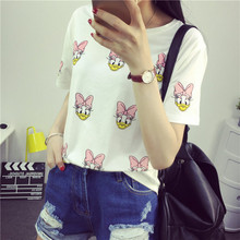 2015 New Summer Womens T Shirts Short Sleeve Tops Tees Full Printed Tshirt Fashion For Women Pineapple Print T-Shirts(China (Mainland))