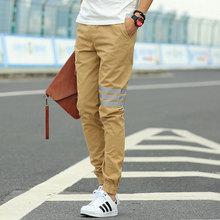 Khaki Joggers New Arrival: Fashion Casual Slim Mens Khaki Pants ChinosSports Track Jogging Pants Men Joggers Cotton Sweat Pants(China (Mainland))