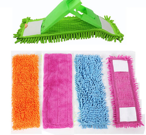 1Pcs Folding Flat Mop Head Coral Velvet Chenille Refill Replace Microfibre Fabric Replacement Cloth Easy Wash No Handle 40x12CM(China (Mainland))