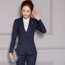 Buy Ms High end fashion Career stripe Business Work clothes suit for $58.65 in AliExpress store