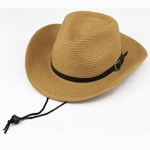 100% paper cowboy hat foldable straw hat unisex cowboy hat beach hat(China (Mainland))