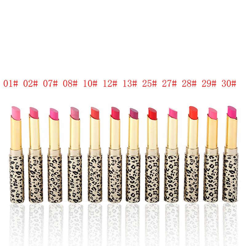 Lipstick Stain Matte Balm Makeup Fashion Leopard Moisturizing Sweet Red Lip Stick Mouth Set 12 PCS <br><br>Aliexpress