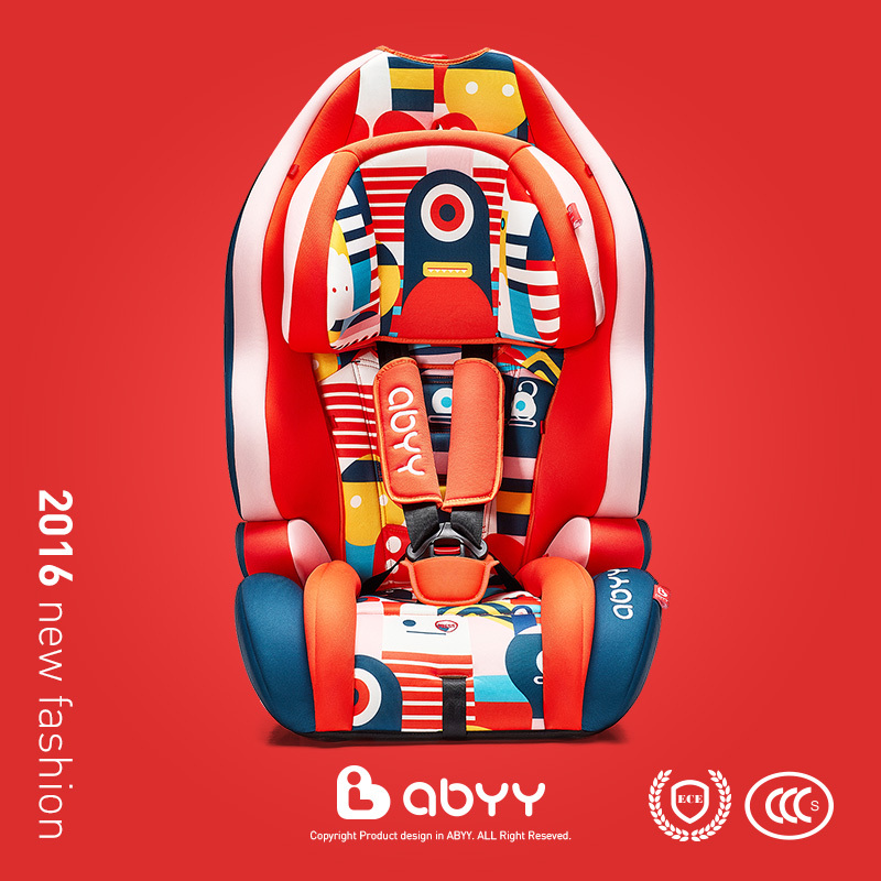 Abyy children's car safety seats baby sitting car seat child car safety seat 9kg-36k kid with CCC ECE certification(China (Mainland))