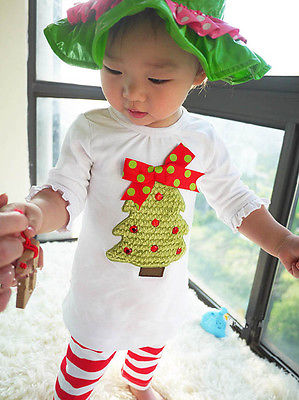 2016 New Christmas Girls Dress Long-Sleeve Winter Kids Clothes Cotton Children's Clothing Sets Christmas(China (Mainland))